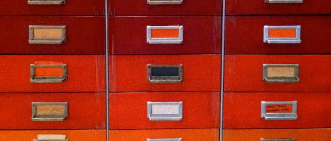 """Vintage File Cabinet"" by victoriabernal is licensed under CC BY-NC-SA 2.0 via Flickr"